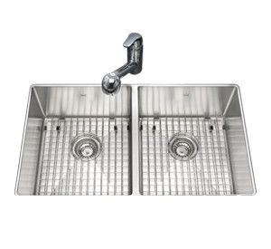 Kindred Kcud33 9 10bg Undermount Stainless Double Kitchen Sink