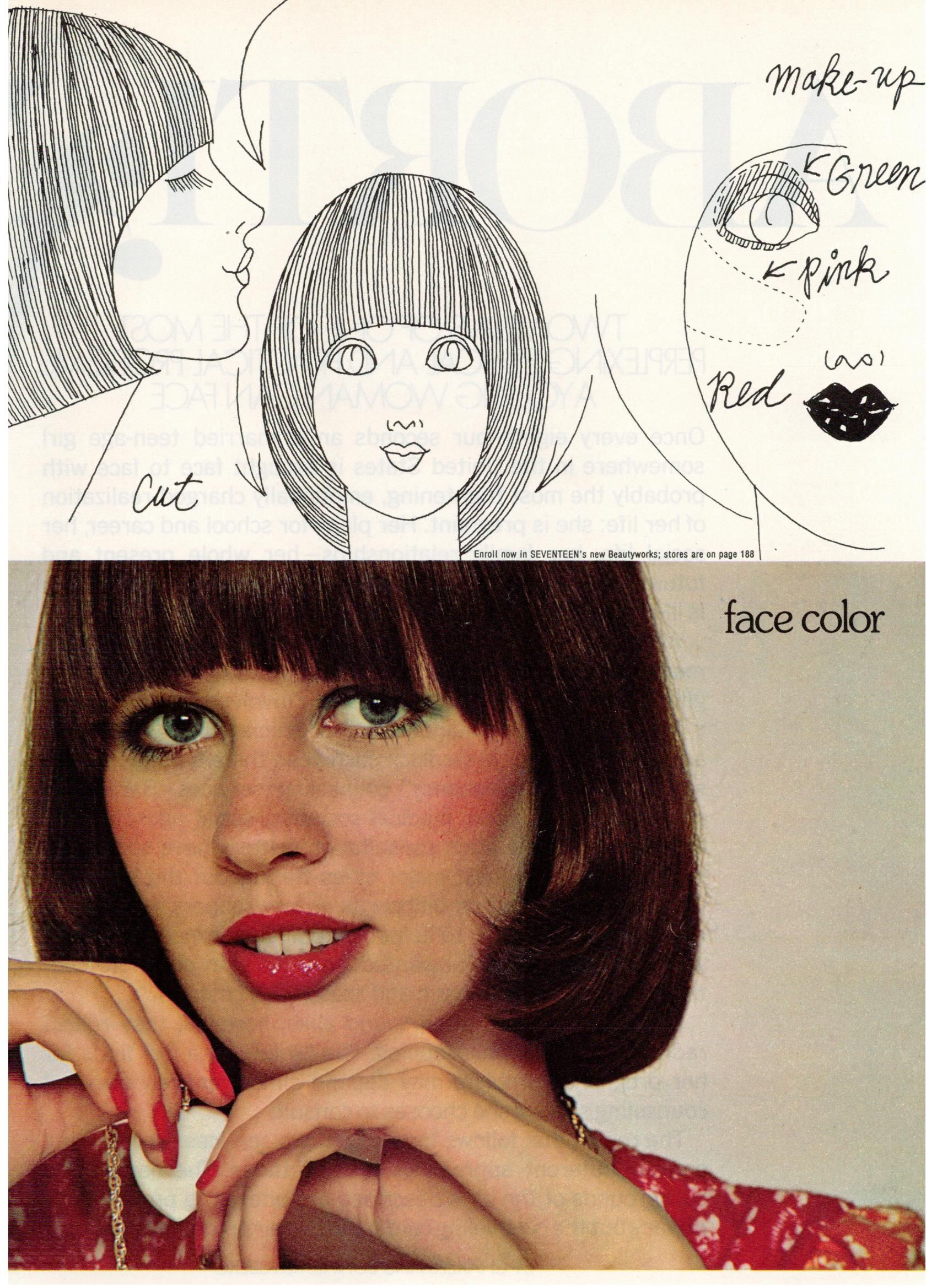Biba make up and hair ideas for 1972