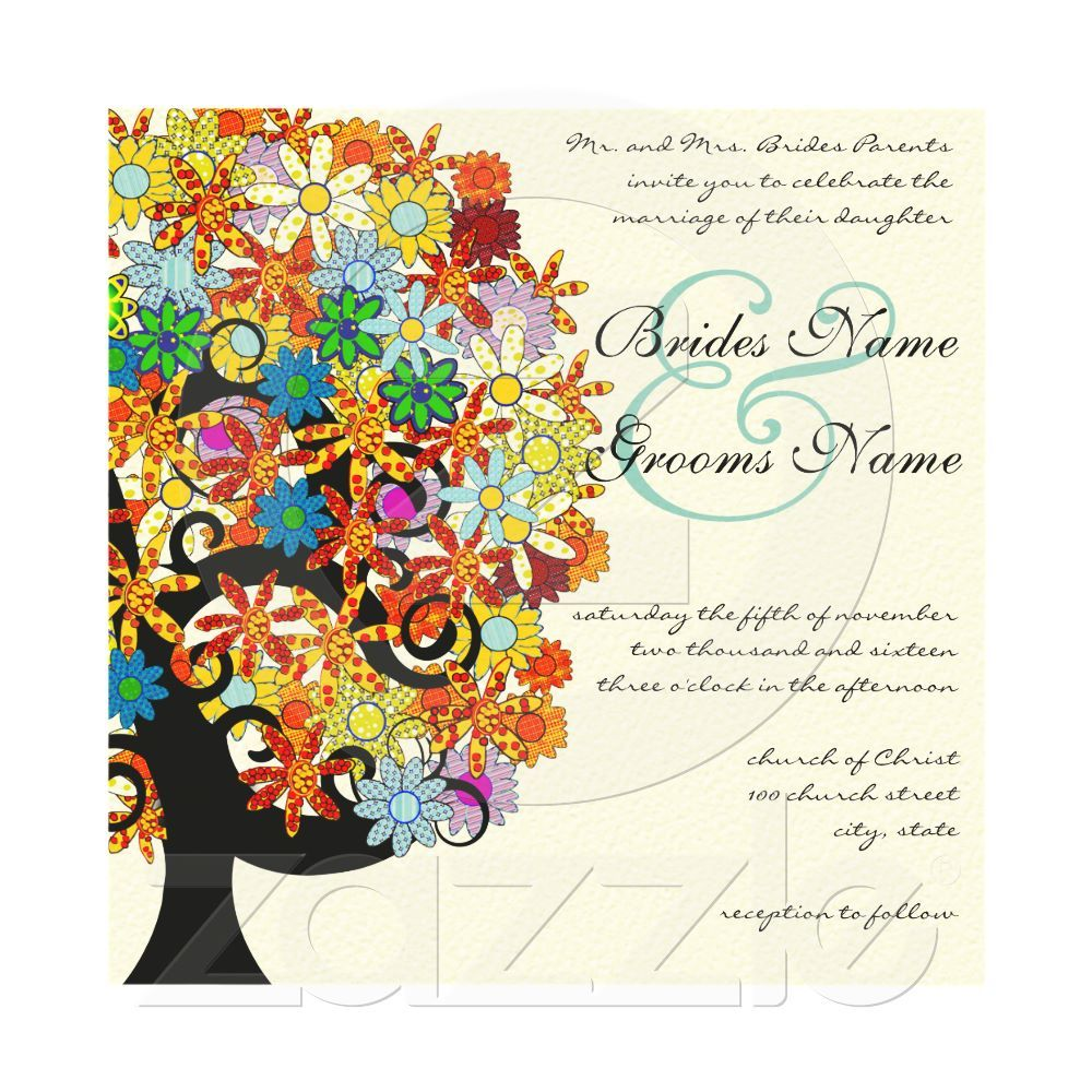 Romantic Love Tree Wedding Invitation | Zazzle com au