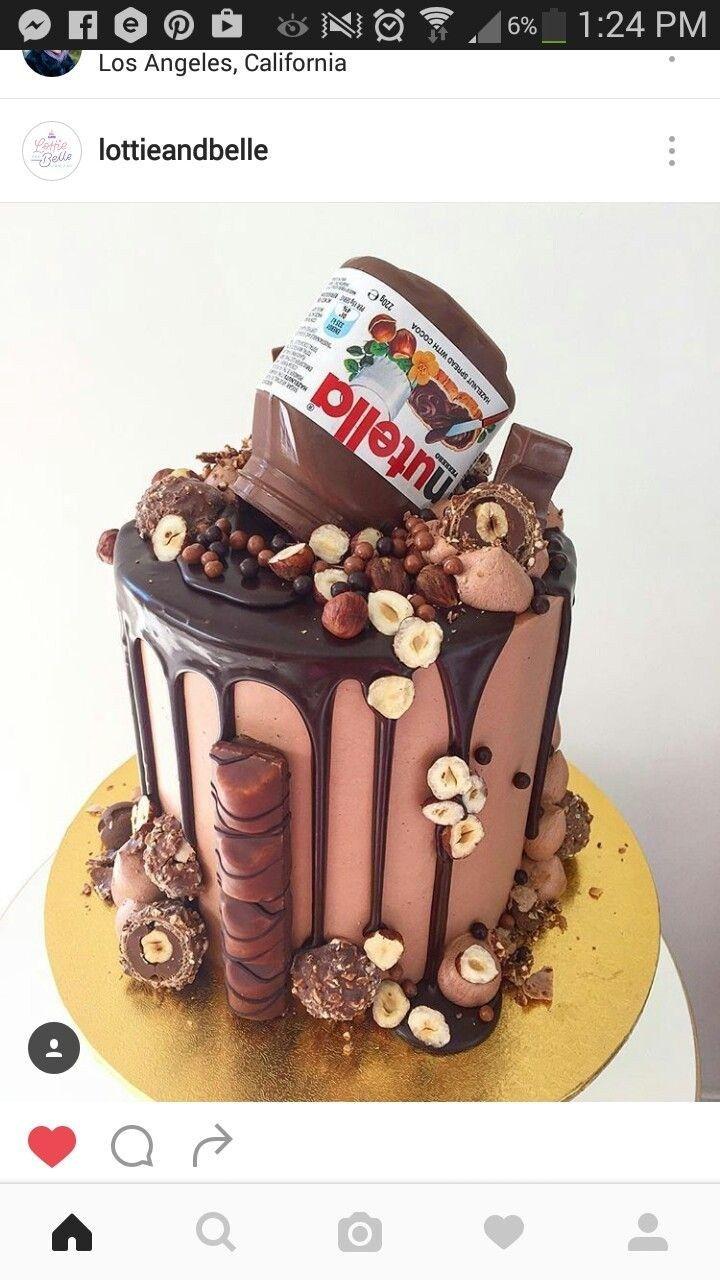 30+ Elegantes Foto von Nutella Geburtstagstorte   – Birthday Cake Pictures