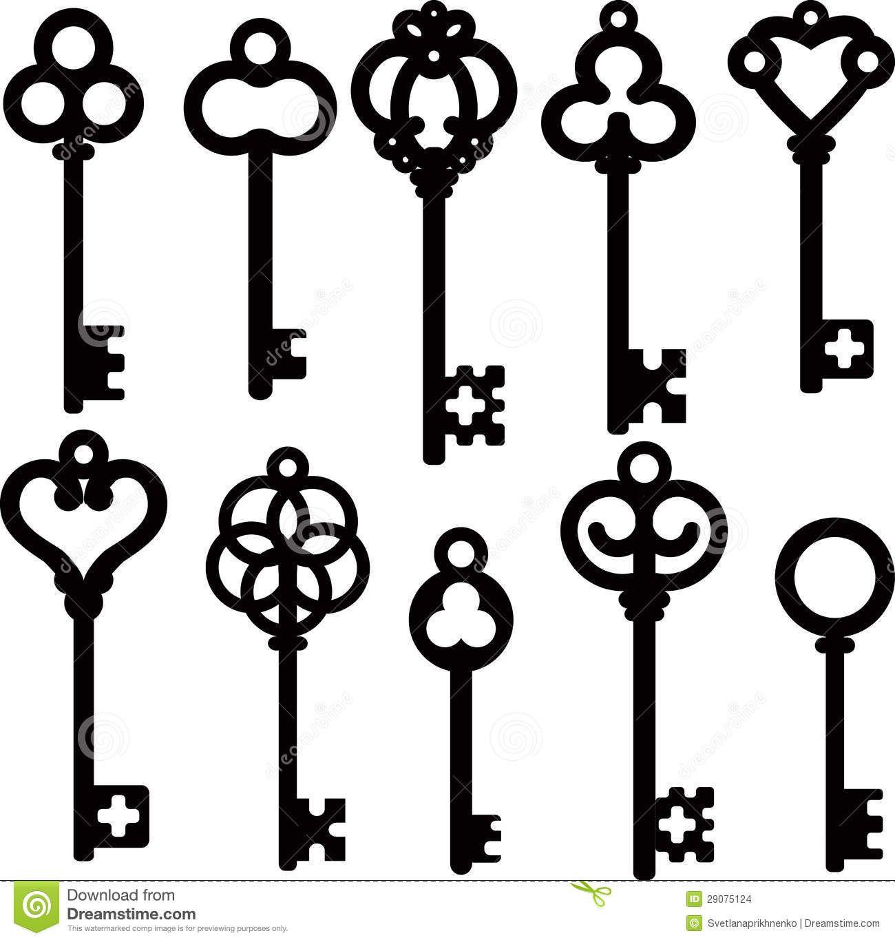 Antique Skeleton Keys Stock Images - Image: 29075124 ...