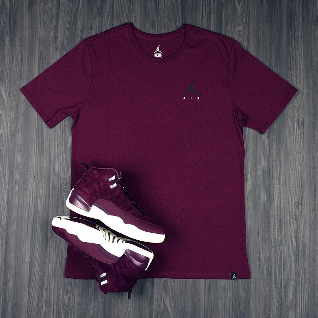 913e08e465a17f The Air  Jordan 12 Bordeaux Collection  Pick up the new Bordeaux Splatter  Tee in stores now.