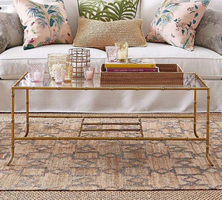 pottery barn leo rectangular coffee table shop the look products rh pinterest com au
