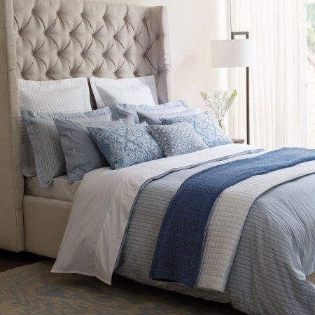 Blue Ticking Stripe Bed Linen Striped Bed Sheets Striped Bedding Blue Rooms