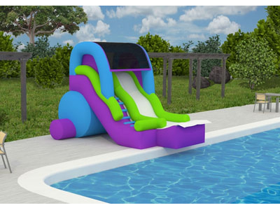 Feel Like Your At A Water Park With This Pool Side Slide This New