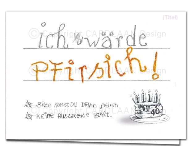 einladung k l a p p k a r t e (pfirsich), Einladung