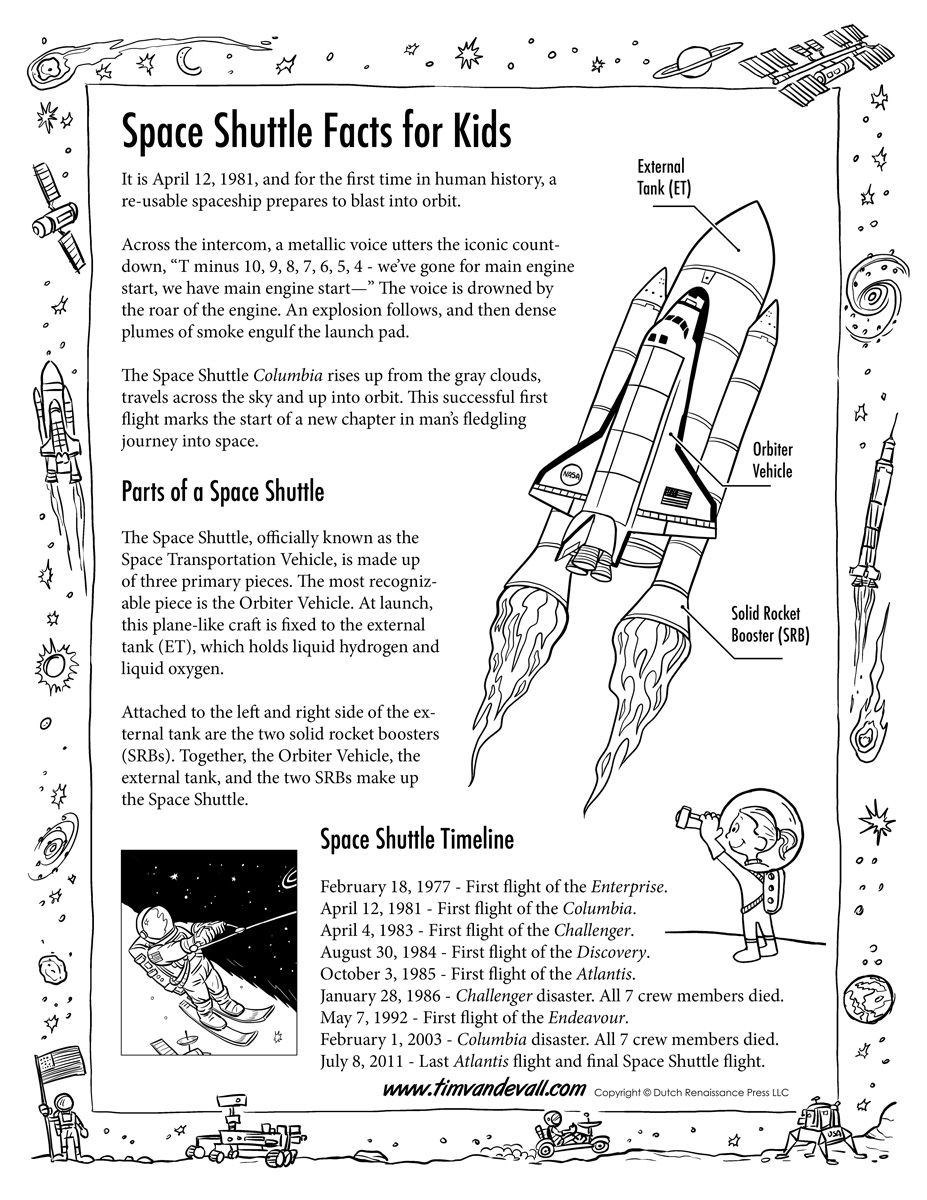 Space Shuttle Facts For Kids Jpg 927 1200 Space Facts For Kids Facts For Kids Space Lessons [ 1200 x 927 Pixel ]