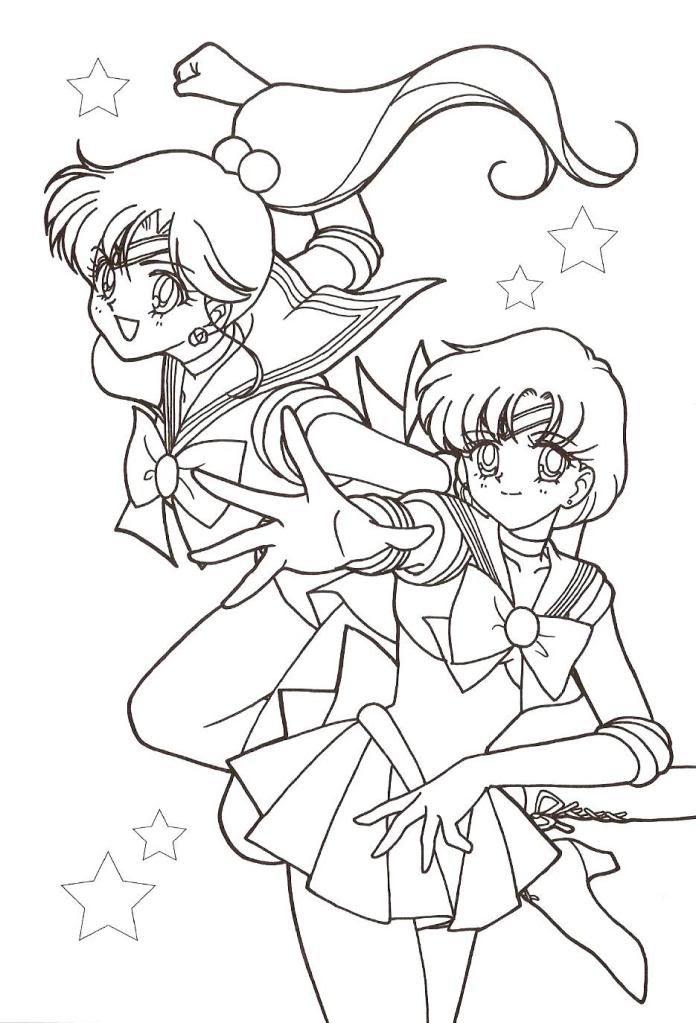 Jupiter Mercury Coloring Page Sailor Moon Coloring Pages Sailor Moon Wallpaper Coloring Pages