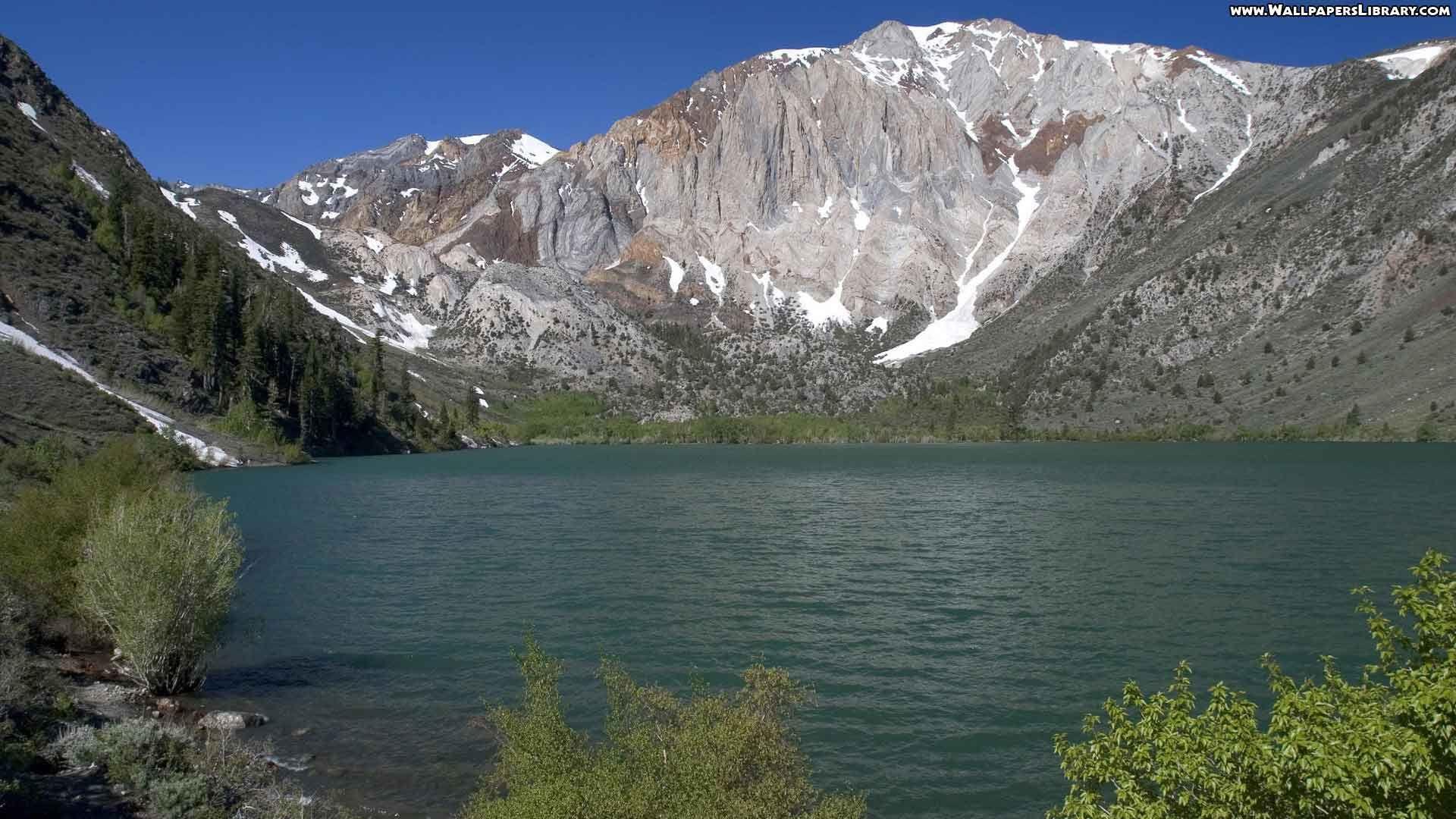 High Definition Glacier Lake Wallpaper Příroda