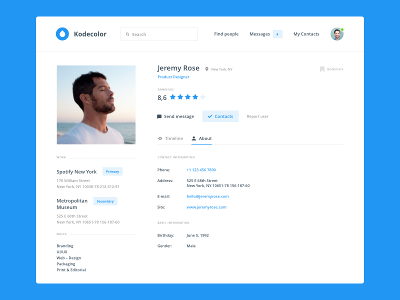 50 User profile page  Design Inspiration  Muzli -Design ...