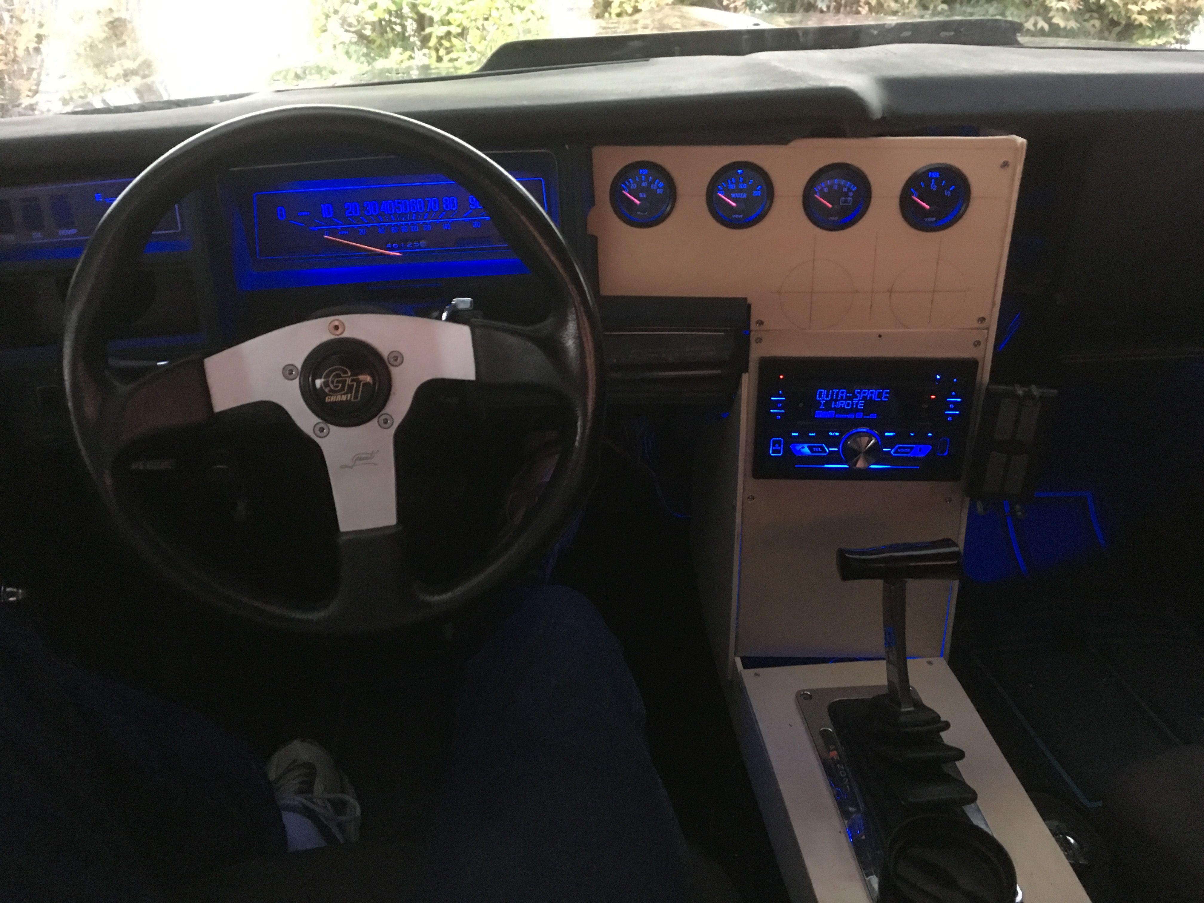 Custom Dash And Console Build On 1977 El Camino Console El