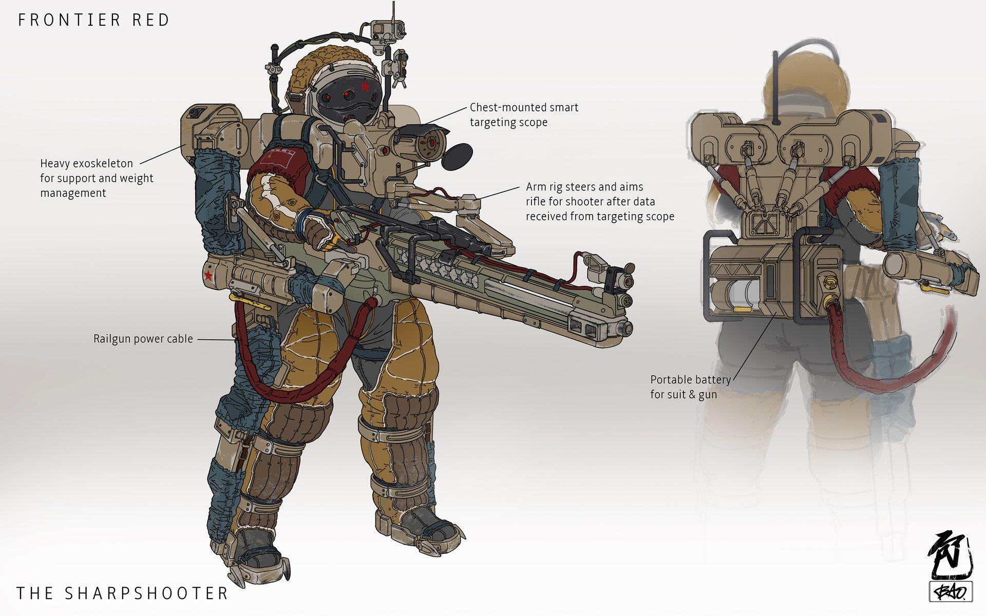 ArtStation - Frontier Red: Major Kova, William Bao