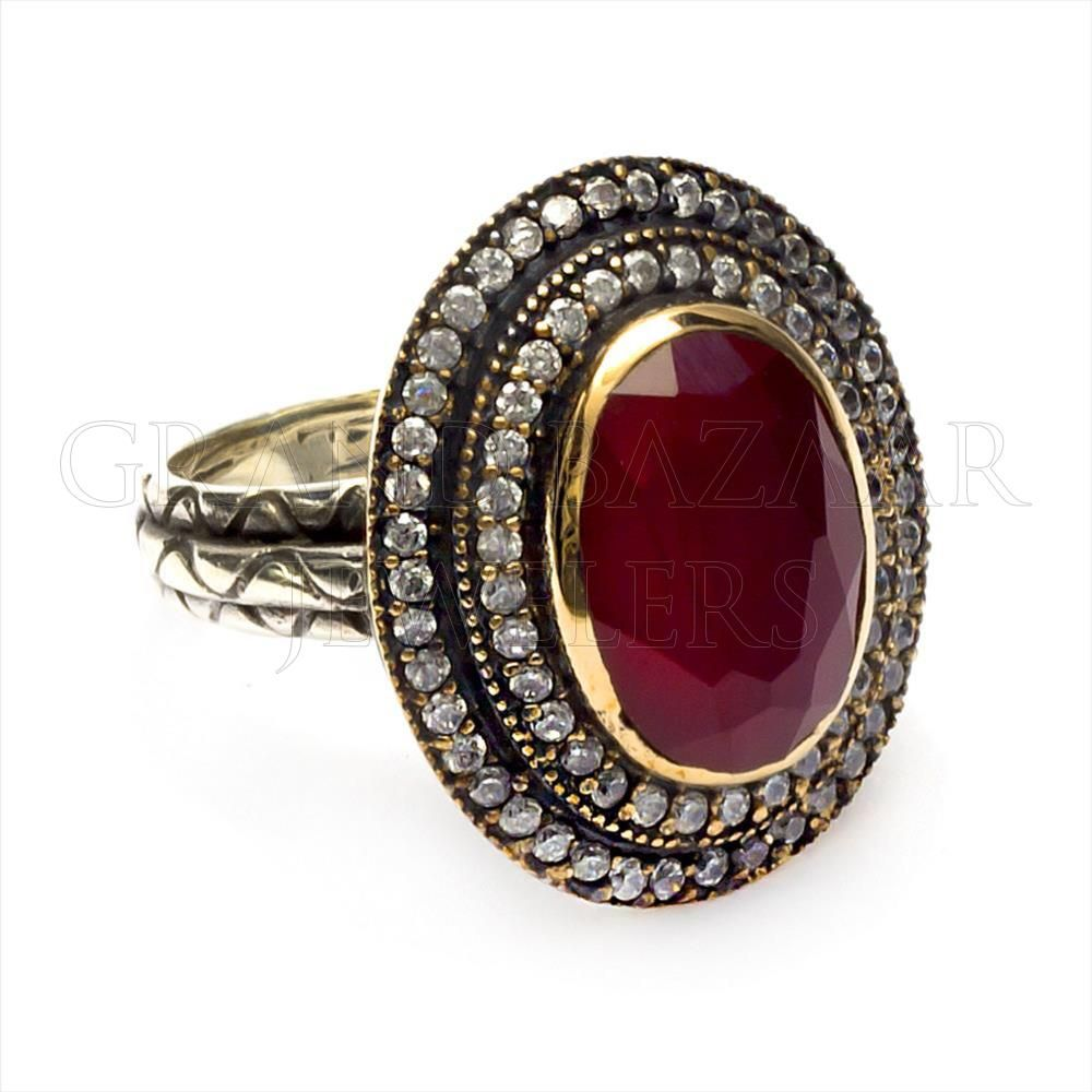 Silver Turkish Platinum: Classic Antique Turkish Silver Sultana Ring Designer