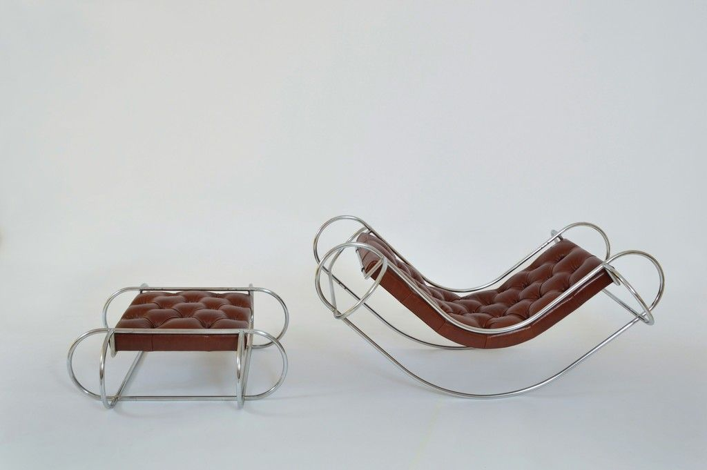 Symetrique Rocking Chair and Ottoman