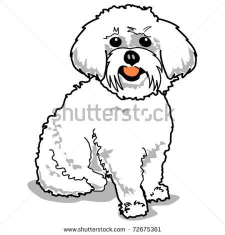 Cartoon Drawing Of Bichon Frise Google Search Dog Clip Art Dog Pop Art Dog Drawing