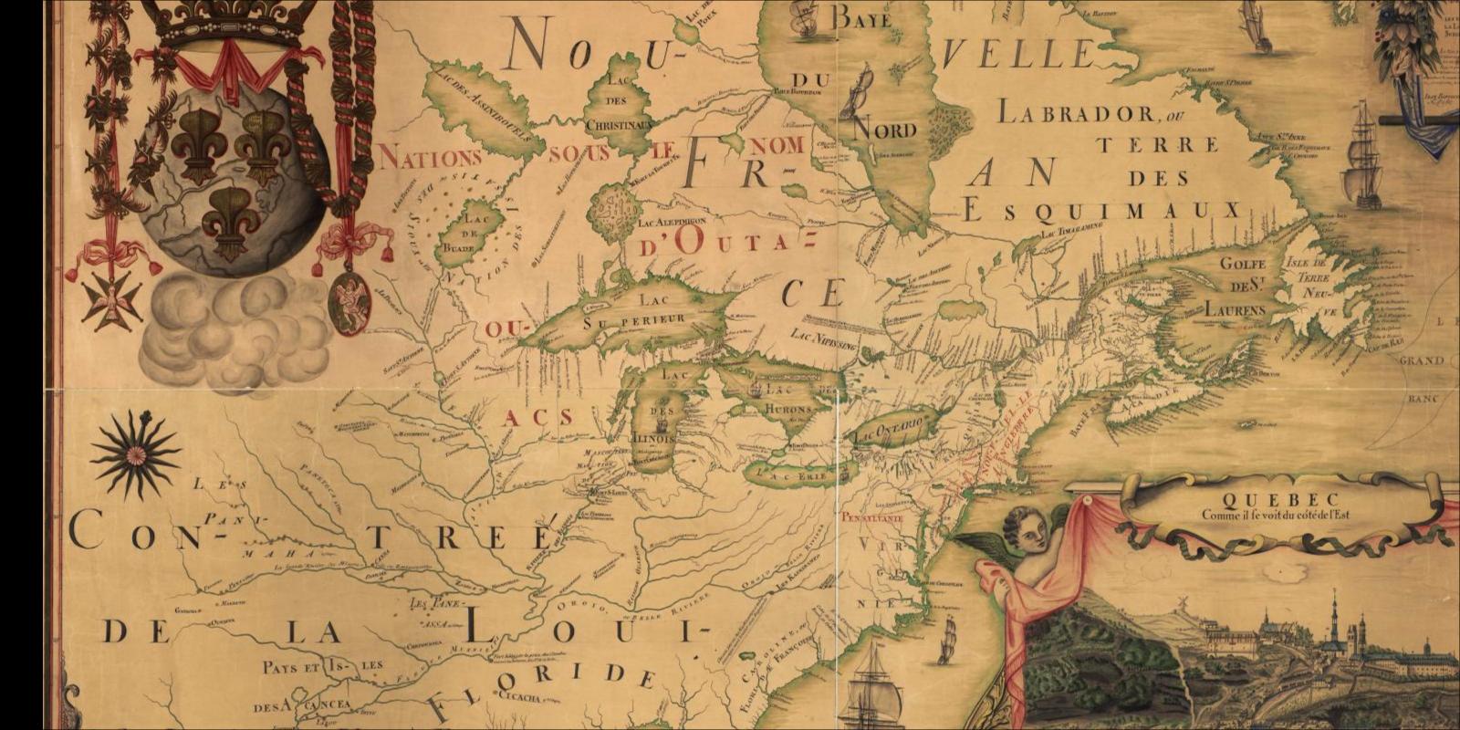 Franquelin Map North America 1688 Franquelin Map