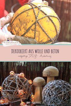 Dekoobjekt aus Wolle und Beton- vielfältige DIY-Anleitung ⋆ Mamahoch2
