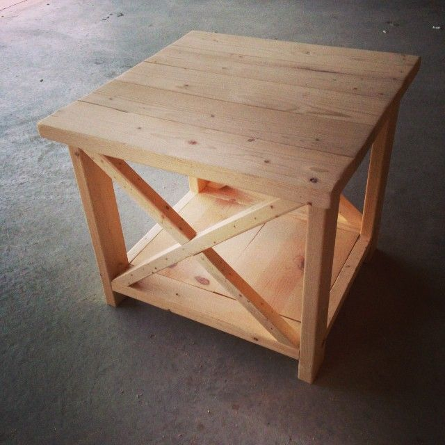 ana white rustic x end table diy projects diy furniture in rh pinterest ca