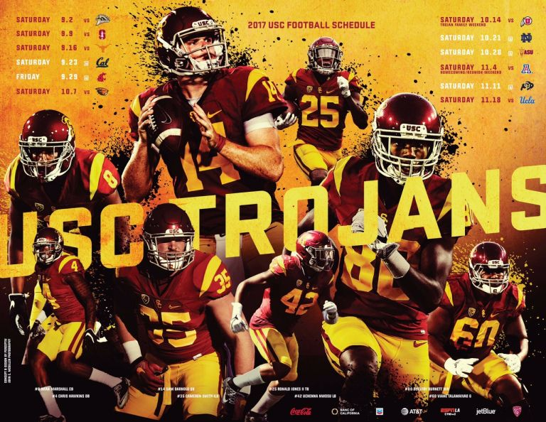 Posterswag Com Top 50 2017 Fbs Football Schedule Posters Usc