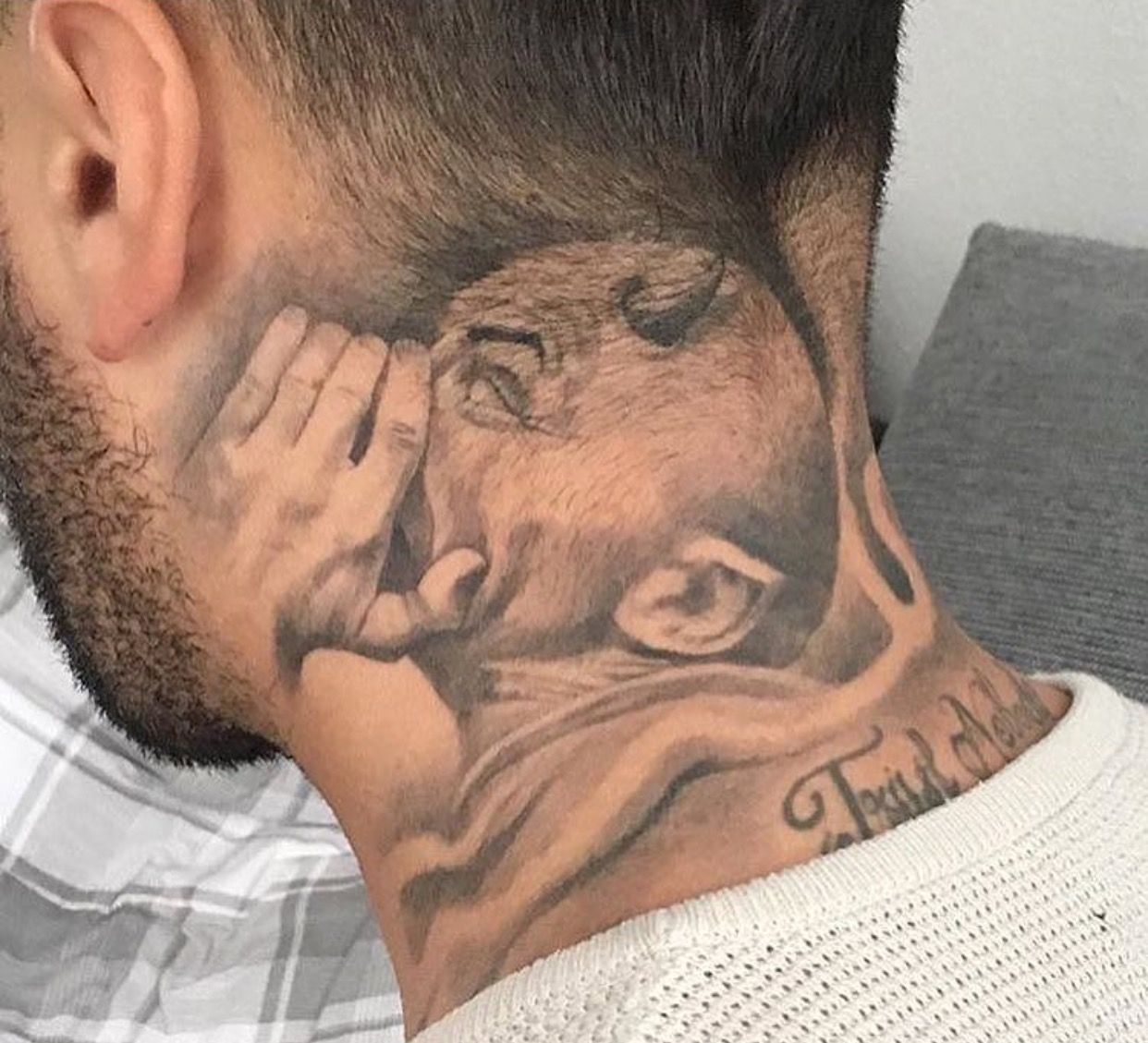 Pin By George Olvera On Ink Neck Tattoo For Guys Gangster Tattoos Evil Tattoos
