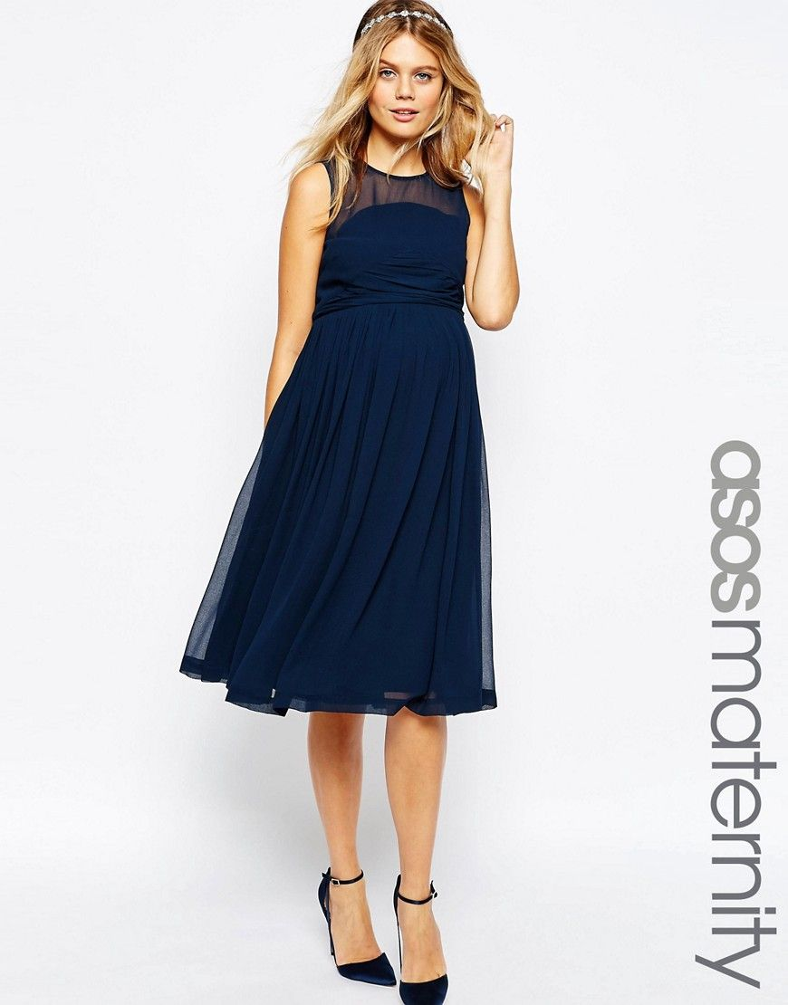 Maternity casual wedding dress  Immagine  di ASOS Maternity  WEDDING  Vestito midi con