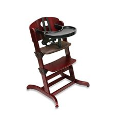 Evolve Convertible Wood High Chair Cherry Buybuy Baby