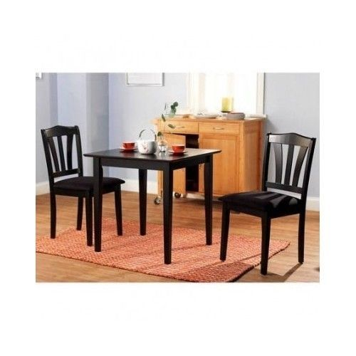 3 Piece Dining Set Breakfast Kitchen Furniture Table Chairs Food Magnificent 3 Piece Kitchen Table Set Inspiration