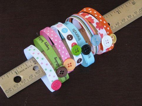 Ribbon bracelets - cute craft for little girls
