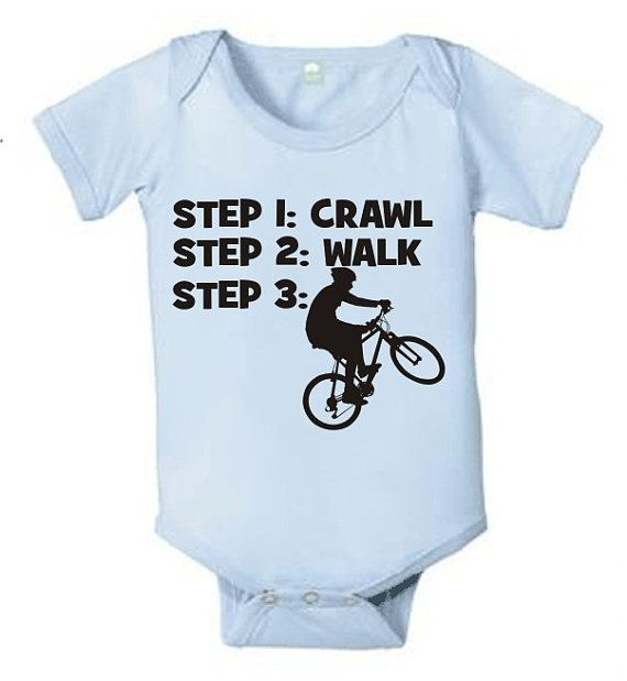 Infant Creeper Bodysuit T-shirt Future Biker Tricycle Sport