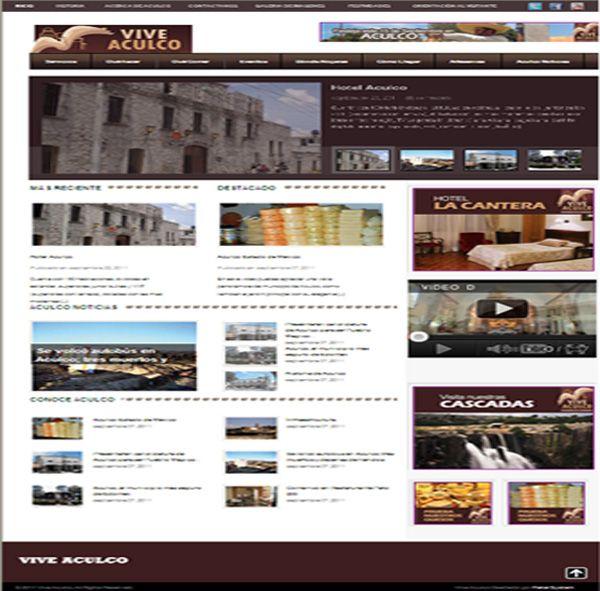 Diseño de la pagina web de Vive Aculco