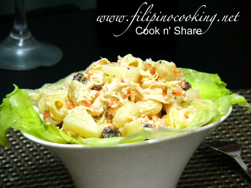 how to cook chicken salad filipino style