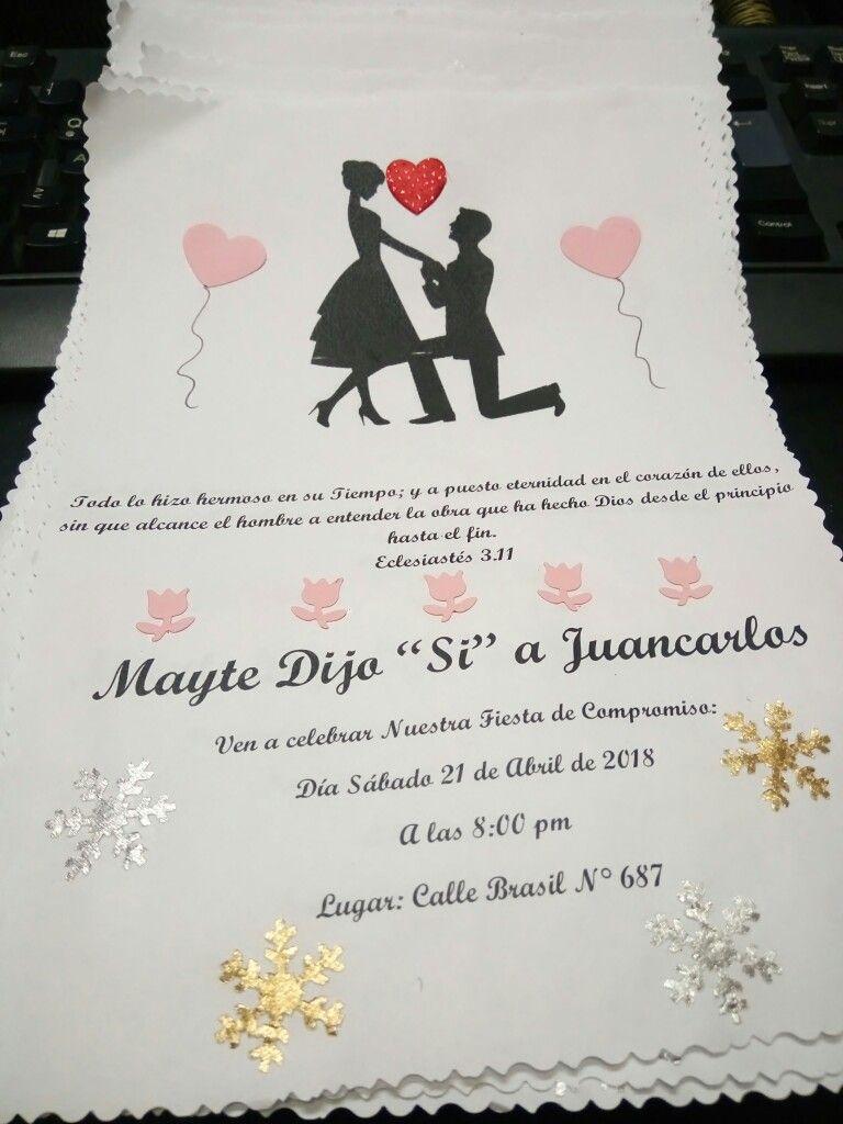 Tarjeta De Invitacion De Pedida De Mano Invitaciones De