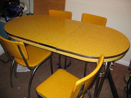 Howell Chromsteel Dinette Set Vintage Late 1940 S Formica Chome Dinette Picasaweb Google Com Vintage Kitchen Table Vintage Dining Room Table Dinette Sets