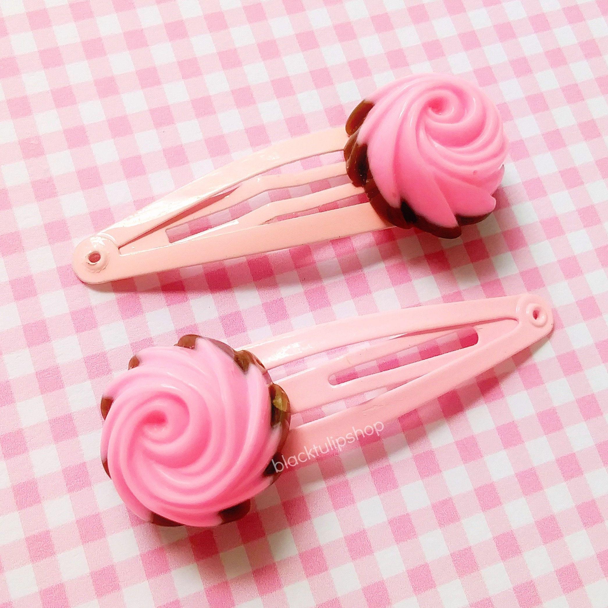 A Pretty Pink Barrette Hair Clip