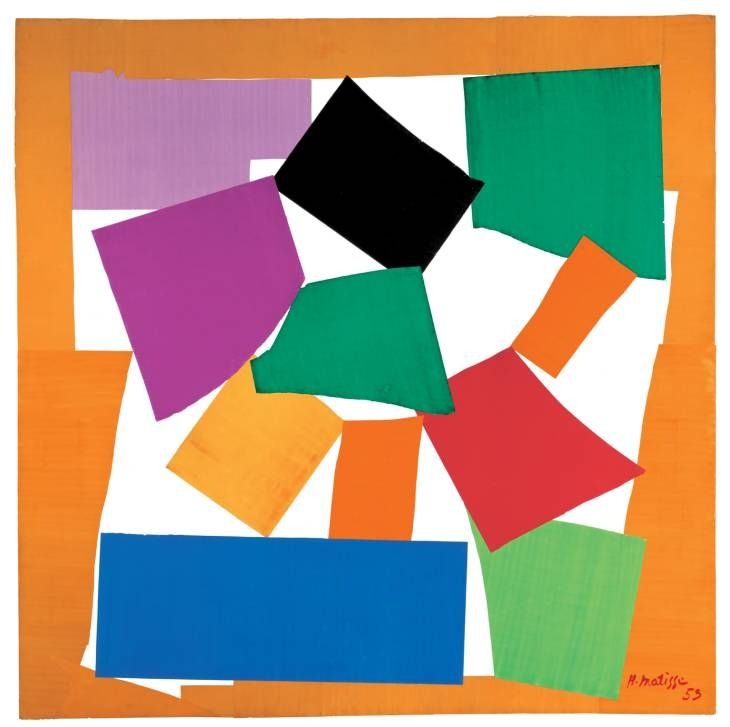 Henri Matisse  The Snail 1953  Gouache on paper, cut and pasted on paper mounted on canvas  support: 2864 x 2870 mm
