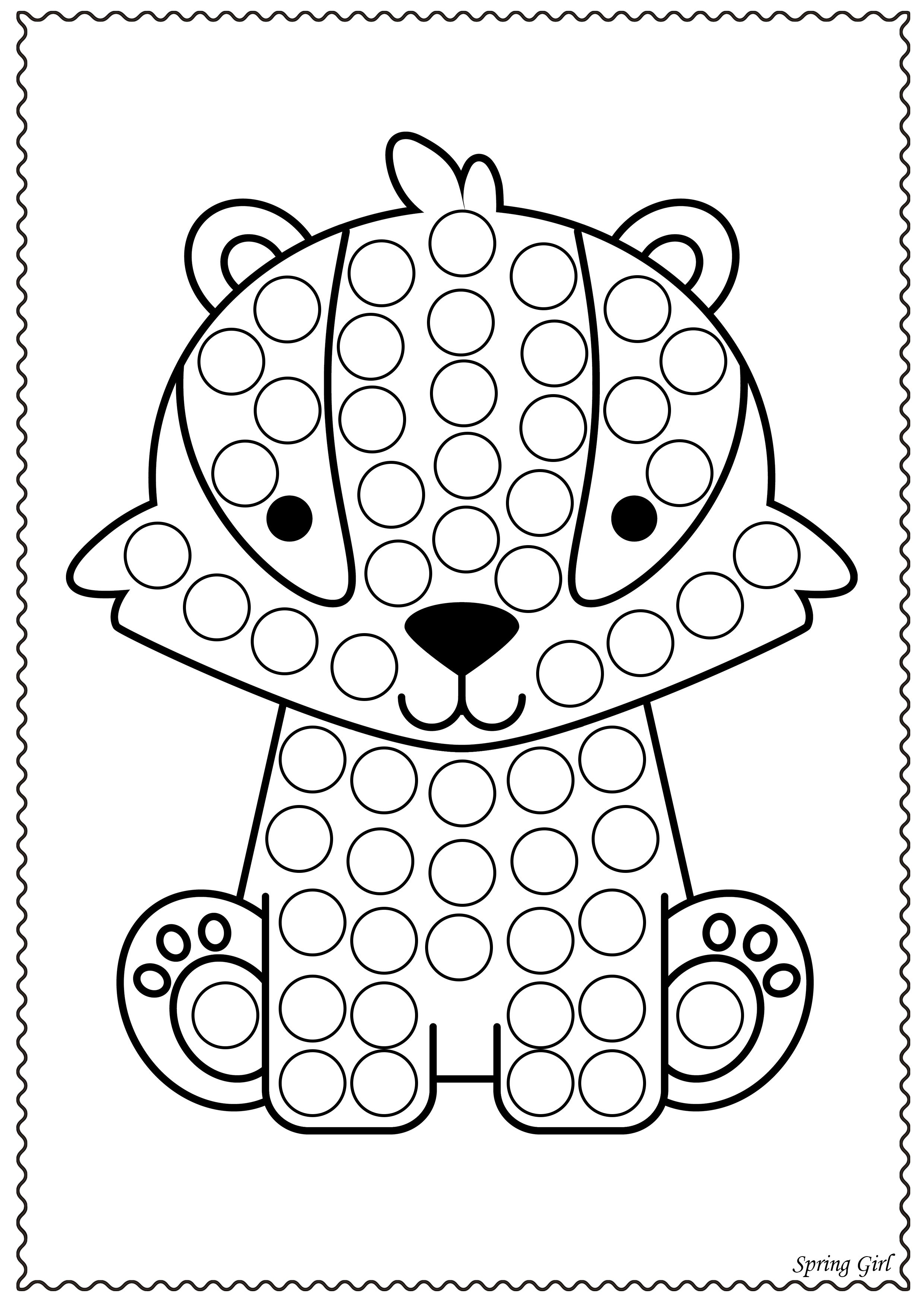 Do A Dot Animals Dot Marker Printables In