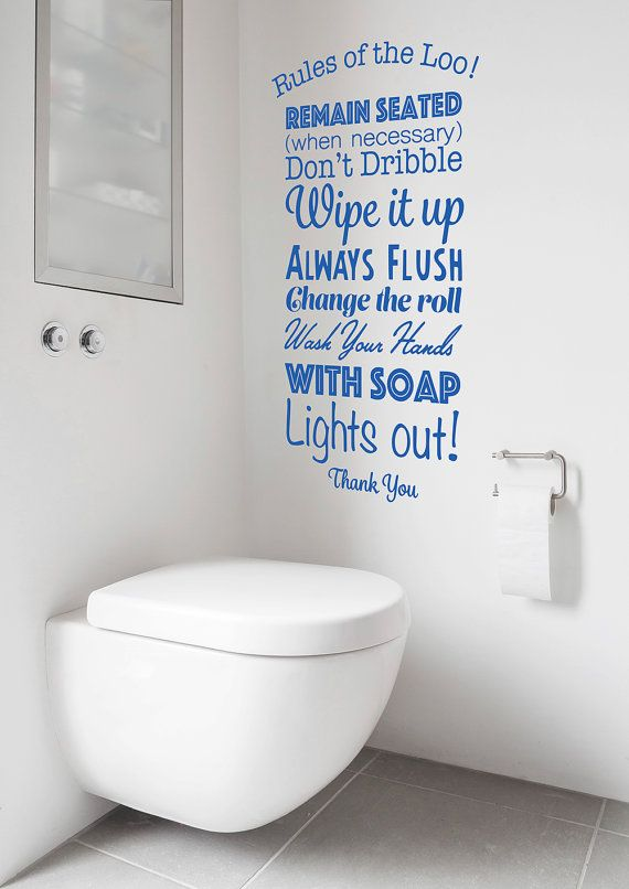 Rules Of The Loo Decal Toilet Rules Sticker Lavatory Bathroom