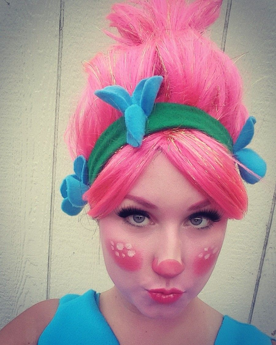 Trolls Princess Poppy Costume Hair And Make Up Poppy Costume