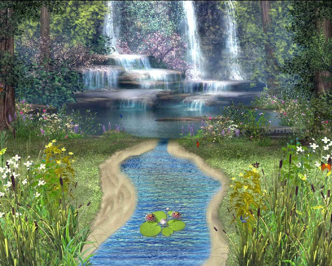 Animated Screensavers Spring Forest Animated