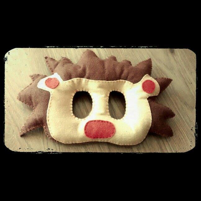 Lion mask (felted)