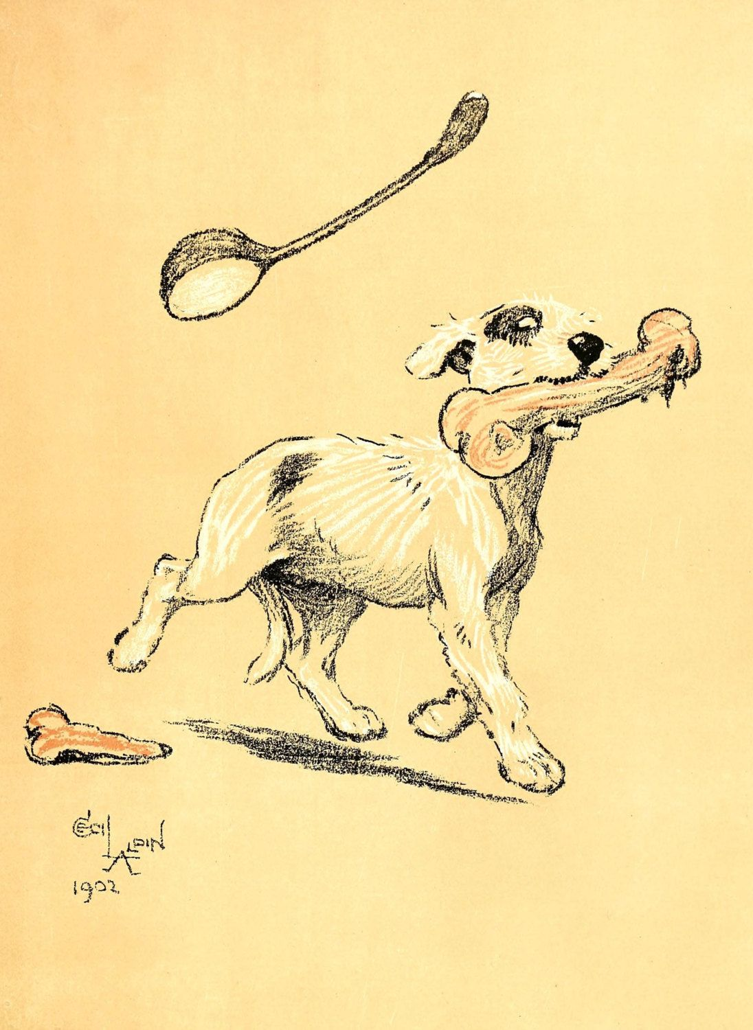 Cecil Aldin A Dog's Day Vintage Reproduction Photo Print  # 21 of 27 by A4Printsuk on Etsy