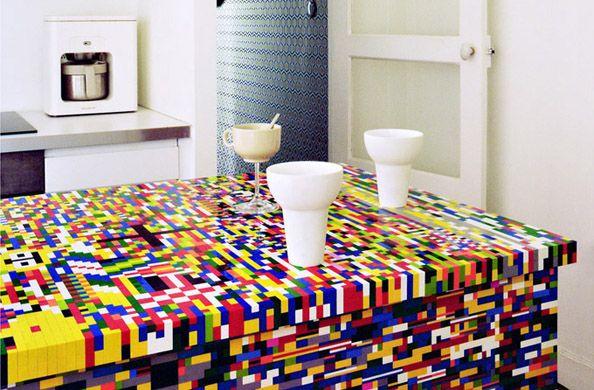Lego kitchen island by Simon Pillard & Philippe Rosetti | homie ...