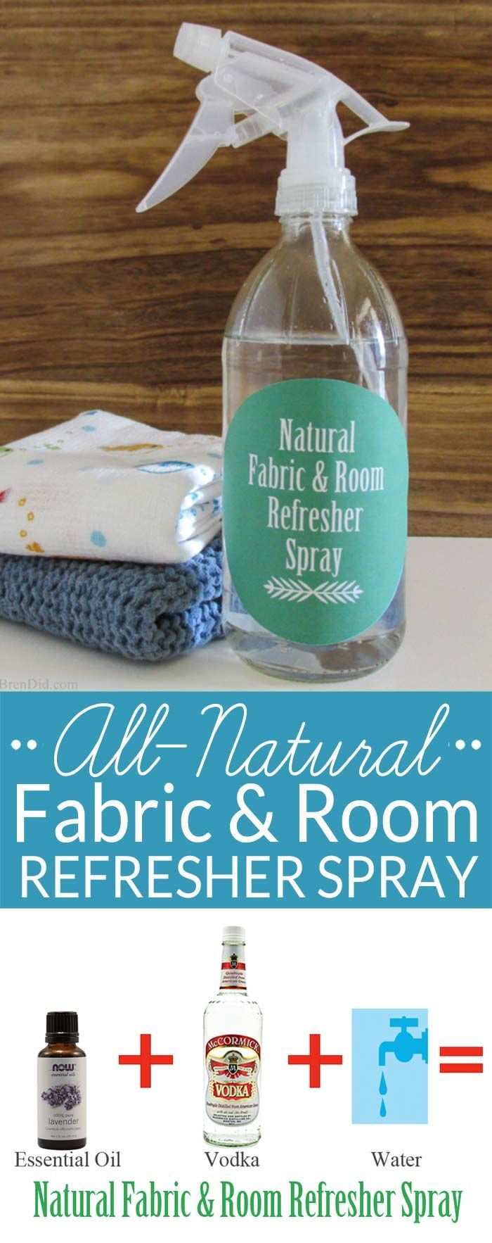 Homemade Air Freshener for Fabric and Rooms Natural