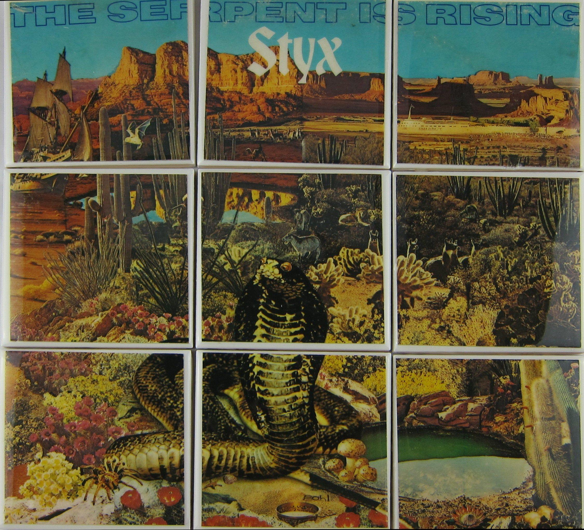 Styx Album Sleeve Coaster Tile Set Recycled Vinyl Record Etsy In 2020 Album Sleeves Used Vinyl Records Vinyl Records
