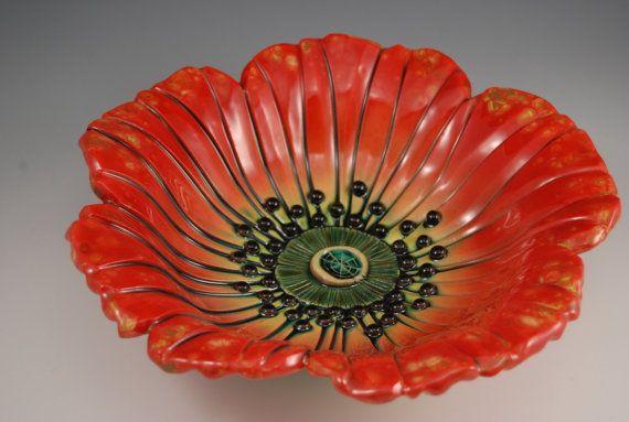 Poppy Bowl by natalyasots on Etsy, $125.00