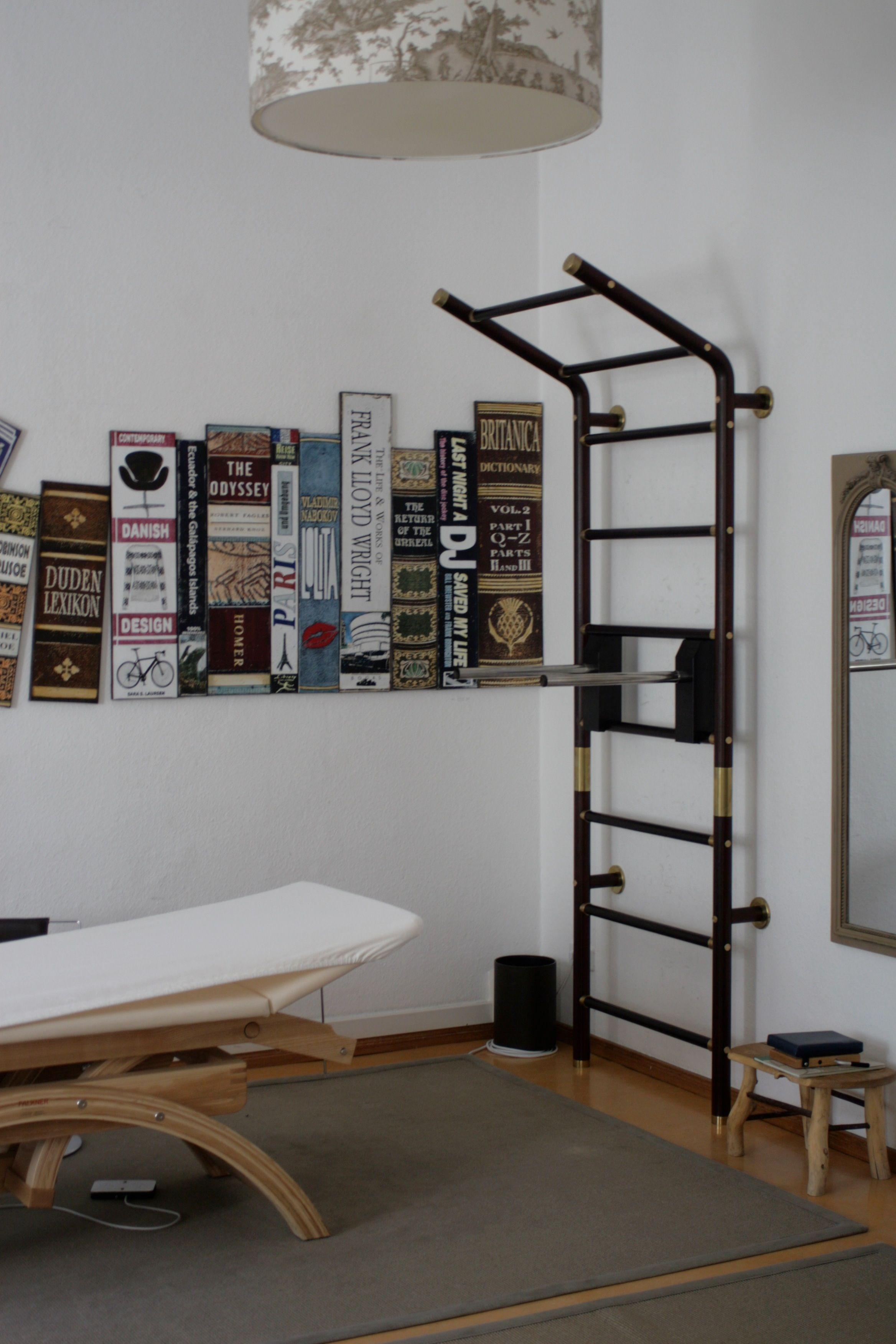Luxus Design Sprossenwand maxwall aus Holz und Messing. Die maxwall ...