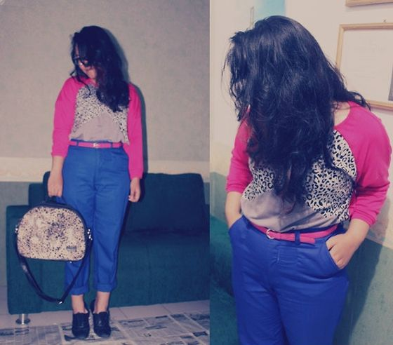Belle By Stfebian Triangle Leopard, Betsey Johnson Chino, Misyelle Bag, Unbranded Pink, Belle By Stfebian Black Shoes
