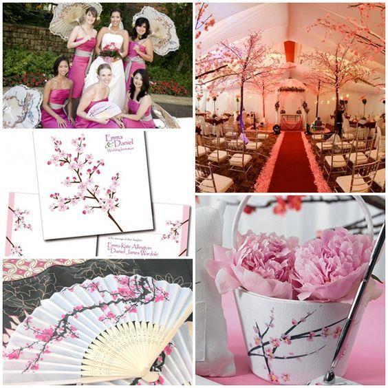 Japanesse Inspired Wedding Decorations