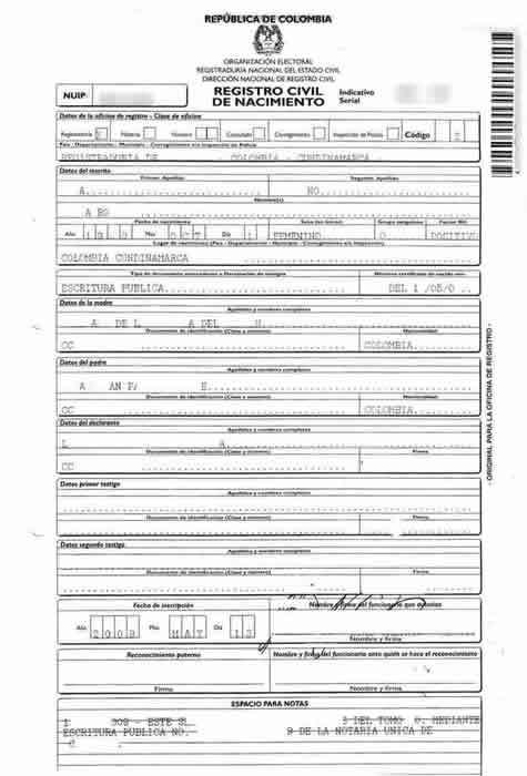 Spanish To English Birth Certificate Translation Template