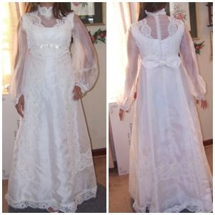 Restyle Mothers Wedding Dress Before Picture Similar To Mine